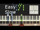 Scott Joplin - The Entertainer - Piano Tutorial Easy SLOW - How to Play
