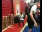 Alec dancing at cheerleading competition