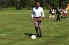 President Obama Shows off His Soccer Skills