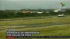 Avión aterriza en Puerto Vallarta con falla técnica